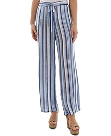 Juniors' Stripe-Print Pants
