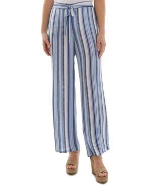 Juniors' Stripe-Print Pants