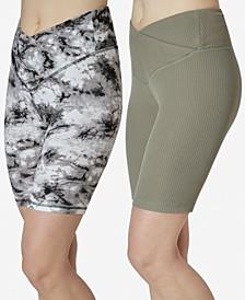 Juniors' Two-Pack V-Waist Bike Shorts