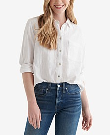 Relaxed Textured Cotton Shirt