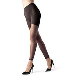 Women's Sheer Footless Capri Shaper Tights