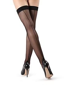 Women's Backseam Thigh High Stockings