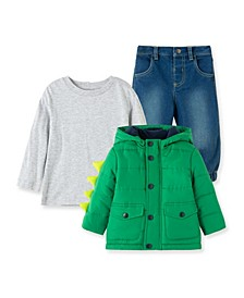Baby Boys Monster Jacket with Pant Set
