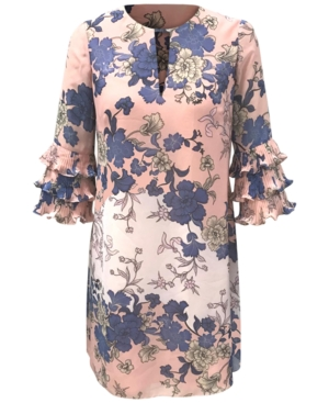 Vince Camuto PETITE FLORAL-PRINT SHIFT DRESS