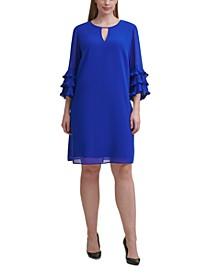 Plus Size Ruffled-Cuff Dress