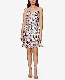 Petite Ruffled-Hem A-Line Dress