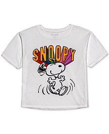Juniors' Snoopy-Graphic Cropped T-Shirt