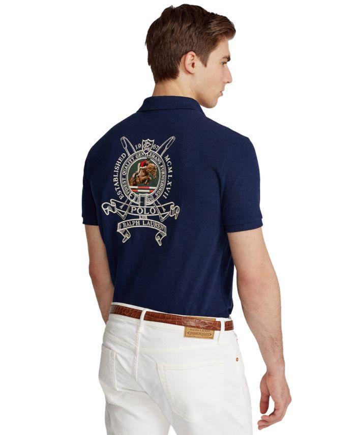 Polo Ralph Lauren Men's Custom Slim Fit Crest Mesh Polo Shirt & Reviews - Casual Button-Down Shirts - Men - Macy's