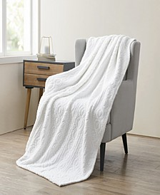 Bethany Sculpted Braid Sherpa Throw Blanket