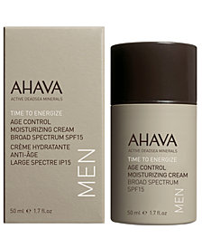 Ahava Men's Age Control Moisturizing Cream Broad Spectrum SPF15