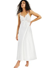 INC Lace-Trim Satin Nightgown, Created for Macy's