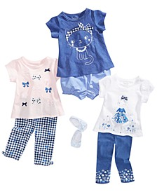 Baby Girls Gingham Mix & Match T-Shirts, Leggings and Shorts Separates, Created for Macy's
