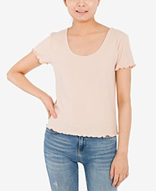 Juniors' Crisscross-Back T-Shirt