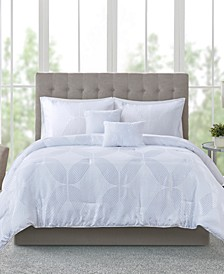 Lynx 9-Pc. Tonal Jacquard California King Comforter Set