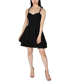 Juniors' Tiered Skater Dress