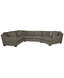 Brixlane 3-Pc. Fabric Sectional, Created for Macy's