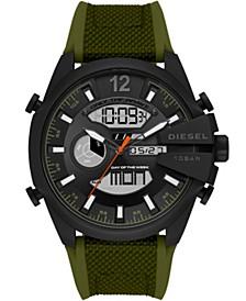 Men's Mega Chief Silicone Green Strap Watch 51mm