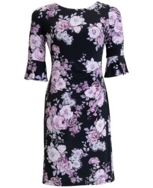 Floral-Print Sheath Dress