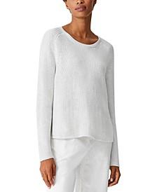 Organic Drop-Shoulder Sweater, Regular & Petite
