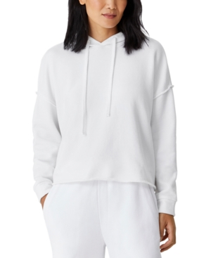 Eileen Fisher Cottons ORGANIC COTTON CROPPED HOODIE