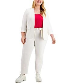 Plus Size Blazer, Camisole & Dress Pants, Created for Macy's