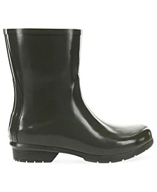 Women's Polished Mid Rain Boots