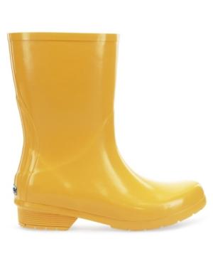 Women's Polished Mid Rain Boots Women's Shoes