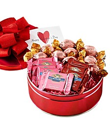 Chocolate Lover's Valentine's Assortment Gift Tin, 18 Pieces