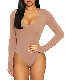 Deep V-Neck Bodysuit