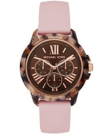 Women's Bradshaw Multifunction Blush Silicone Strap Watch 42mm