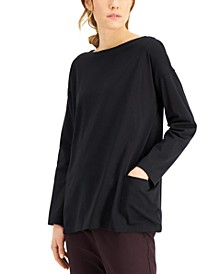 Boat-Neck Long-Sleeve Tunic