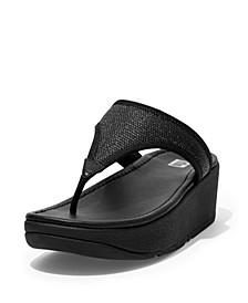 Women's Lulu Sleek Straw Raffia Toe-Post Sandals