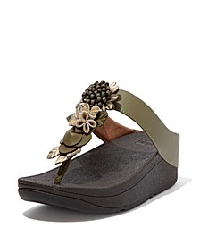 Women's Fino Floral Cluster Toe-Post Sandals