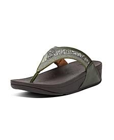 Women's Lulu Ombre Glitter Toe-Post Sandals
