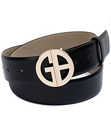 Signature-Buckle Panel Belt