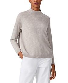 Funnel-Neck Bracelet-Sleeve Sweater, Regular and Plus Sizes