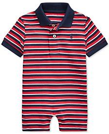 Ralph Lauren Baby Boys Striped Shortall