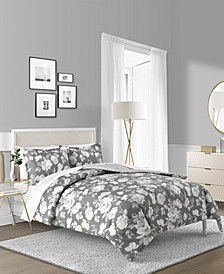 Alisa 3-Pc. Reversible Floral King Comforter Set, Created for Macy's