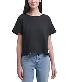 Cropped Boxy-Fit Cotton T-Shirt