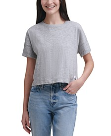 Cropped Boxy-Fit Cotton T-Shirt