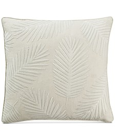 """Palm Leaf Velvet Appliqué 20"""" x 20"""" Decorative Pillow"""