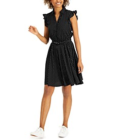 Petite Dot-Print Dress, Created for Macy's
