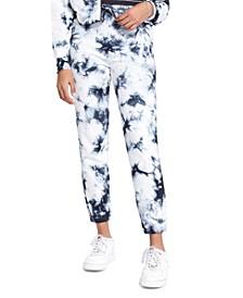 Juniors' Playa Tie-Dyed Jogger Pants