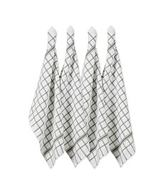 Design Import Windowpane Terry Dishtowel, Set of 4