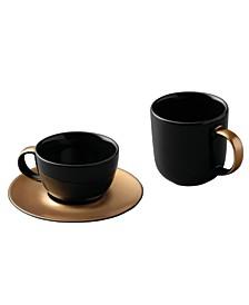 Gem Mug, Cup Saucer, Coffee and Tea Set, 3 Piece