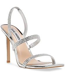 Women's Gracey Rhinestone Strappy Stiletto Sandals