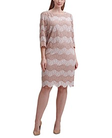 Plus Size Lace Sheath Dress
