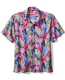 Men's Ibiza Beach Club Floral-Print Silk Shirt
