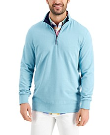 Men's Regular-Fit 1/4-Zip Fleece Sweatshirt, Created for Macy's