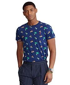 Men's Classic-Fit Tropical-Print T-Shirt
